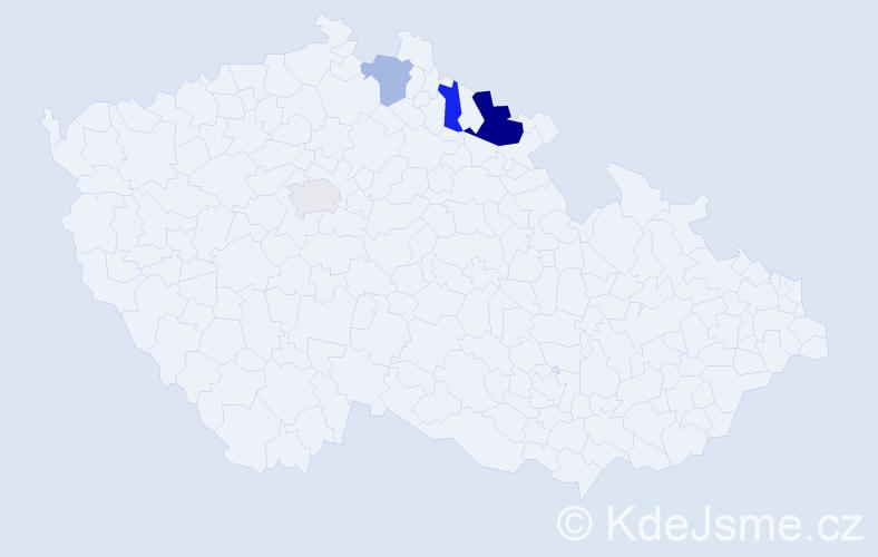 Příjmení: 'Langhamr', počet výskytů 7 v celé ČR