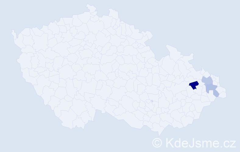 Příjmení: 'Czernín', počet výskytů 9 v celé ČR