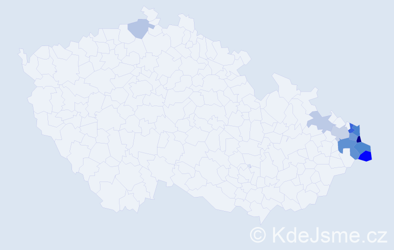Příjmení: 'Dona', počet výskytů 26 v celé ČR