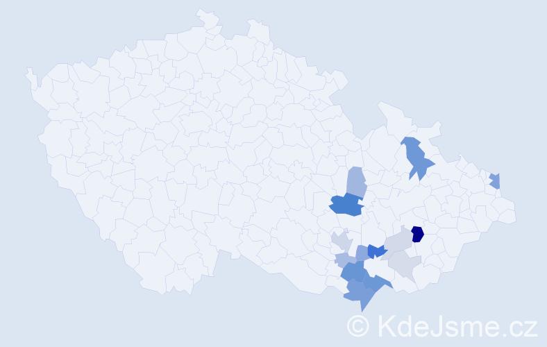 Příjmení: 'Hublík', počet výskytů 41 v celé ČR