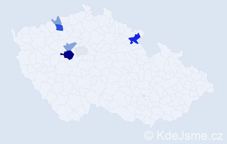 Příjmení: 'Entlichová', počet výskytů 18 v celé ČR