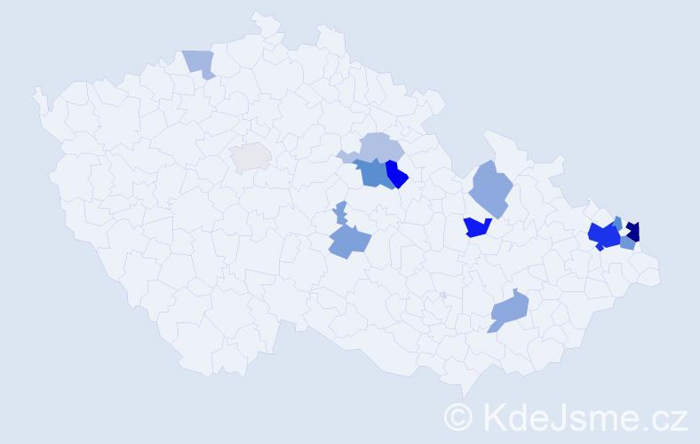 Příjmení: 'Badžgoňová', počet výskytů 29 v celé ČR