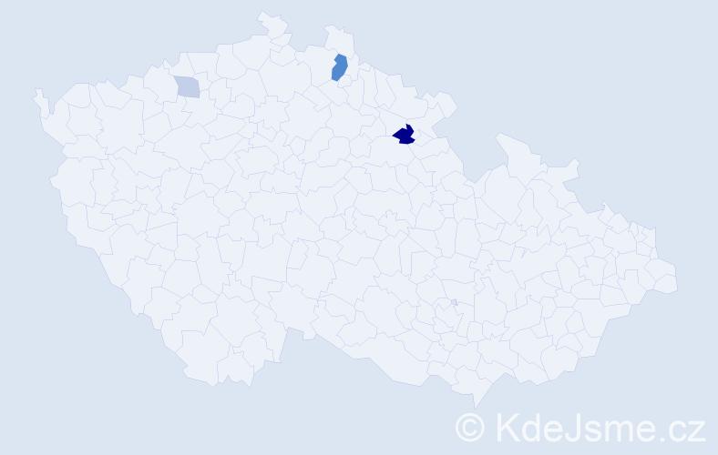 Příjmení: 'Augst', počet výskytů 8 v celé ČR