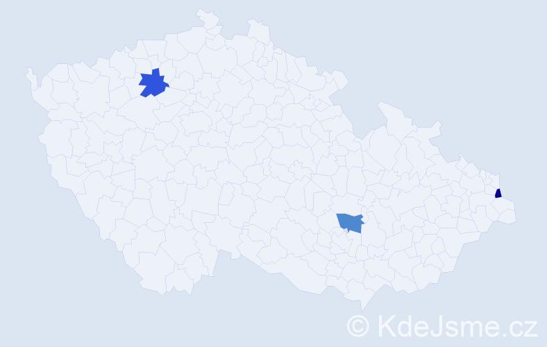 Příjmení: 'Edmondson', počet výskytů 3 v celé ČR