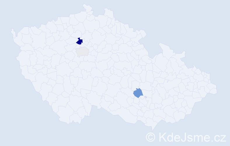Příjmení: 'Bagalová', počet výskytů 5 v celé ČR
