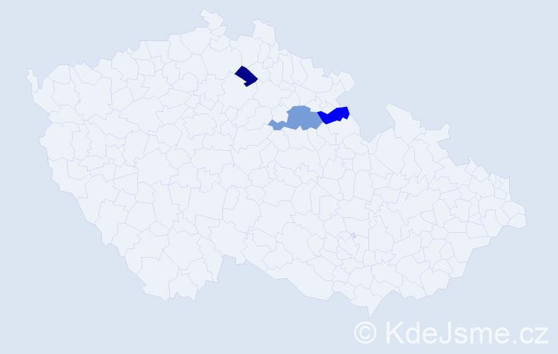 Příjmení: 'Haberpurschová', počet výskytů 4 v celé ČR