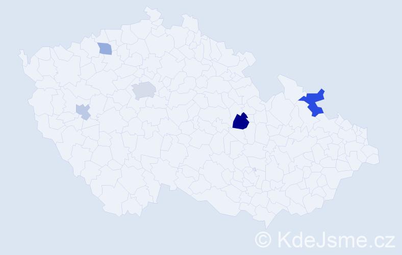 Příjmení: 'Abramovičová', počet výskytů 9 v celé ČR