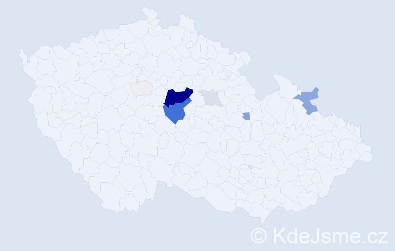 Příjmení: 'Klatka', počet výskytů 27 v celé ČR