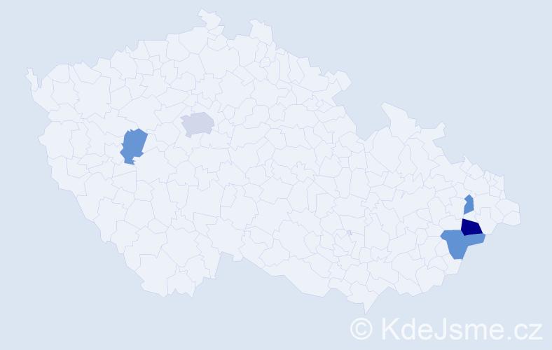 Příjmení: 'Garncarz', počet výskytů 16 v celé ČR