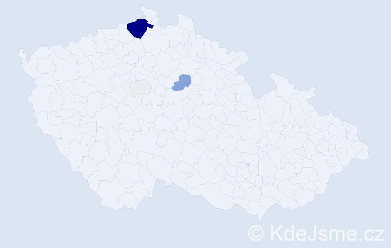 Příjmení: 'Dropková', počet výskytů 12 v celé ČR