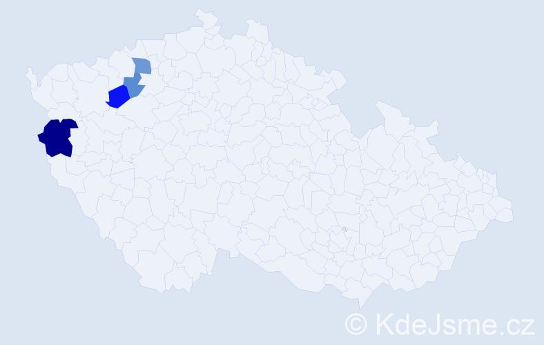 Příjmení: 'Hauswirth', počet výskytů 7 v celé ČR