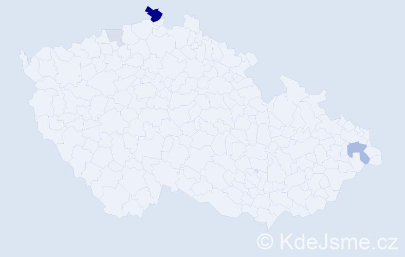 Příjmení: 'Haseová', počet výskytů 12 v celé ČR