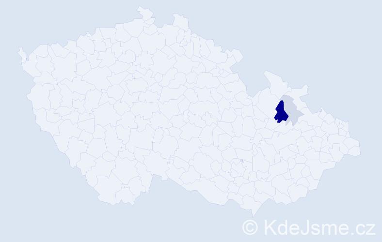 Příjmení: 'Jazudek', počet výskytů 8 v celé ČR