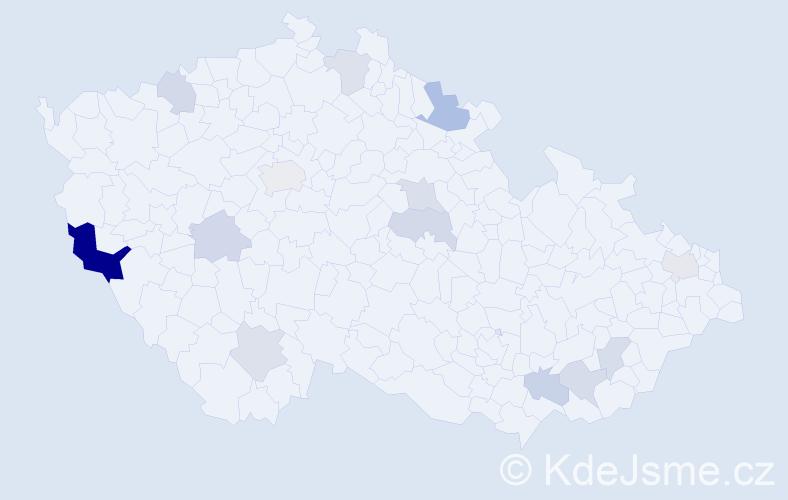 Příjmení: 'Feil', počet výskytů 23 v celé ČR