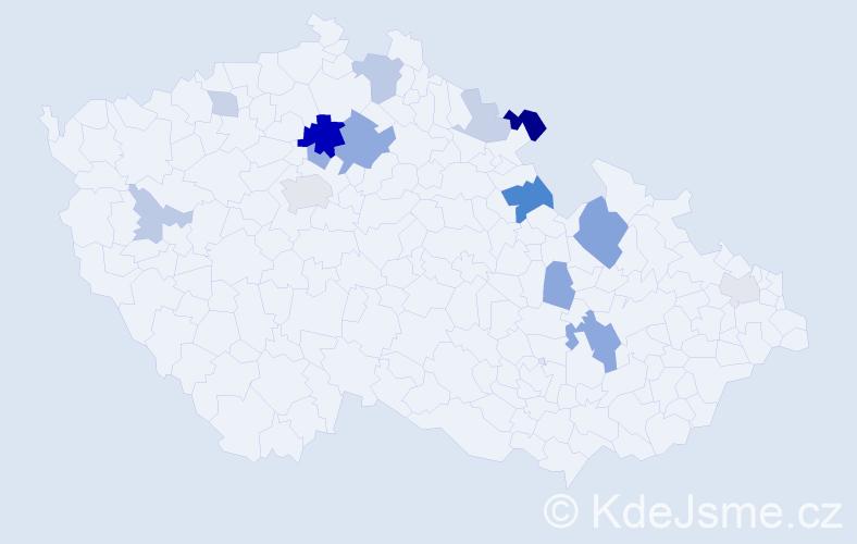 Příjmení: 'Katrenčík', počet výskytů 33 v celé ČR