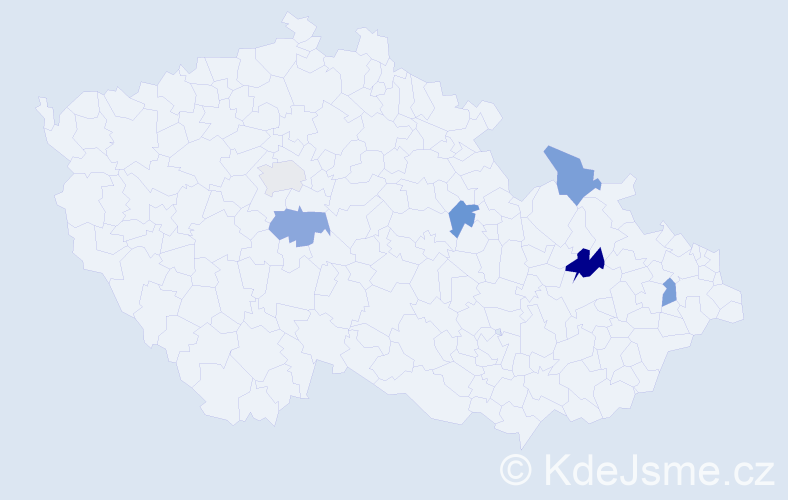 Příjmení: 'Caová', počet výskytů 7 v celé ČR