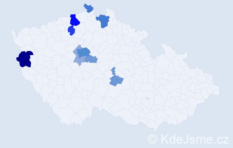 Příjmení: 'Eisler', počet výskytů 31 v celé ČR