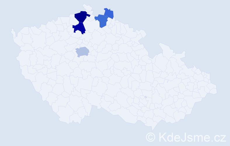 Příjmení: 'Feistner', počet výskytů 20 v celé ČR