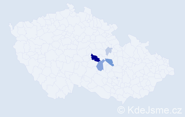 Příjmení: 'Hameder', počet výskytů 13 v celé ČR