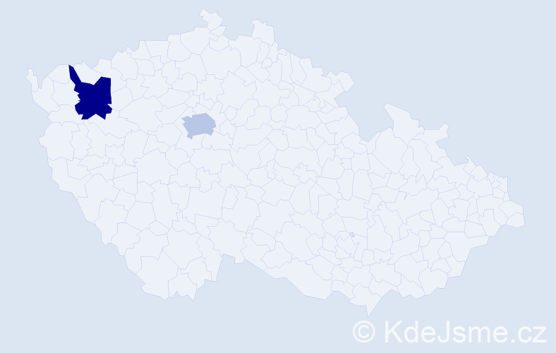 Příjmení: 'Akimov', počet výskytů 2 v celé ČR