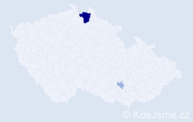 Příjmení: 'Dabdoub', počet výskytů 7 v celé ČR