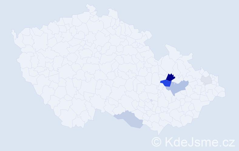 Příjmení: 'Falašta', počet výskytů 9 v celé ČR