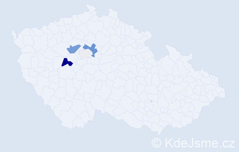 Příjmení: 'Fraitag', počet výskytů 10 v celé ČR