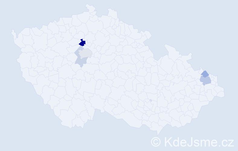 Příjmení: 'Hardtová', počet výskytů 12 v celé ČR