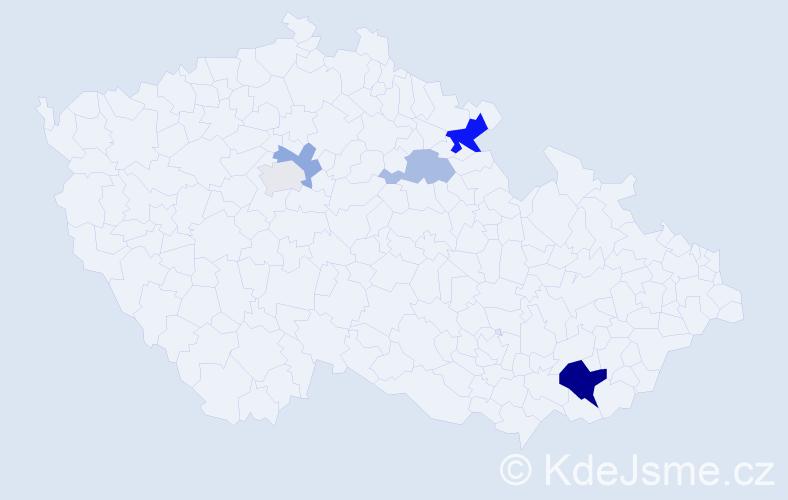 Příjmení: 'Genrtová', počet výskytů 11 v celé ČR
