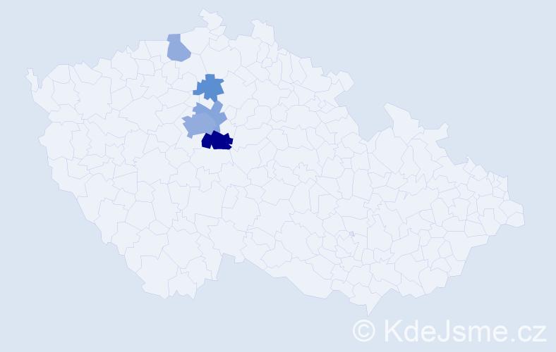 Příjmení: 'Iltisová', počet výskytů 13 v celé ČR
