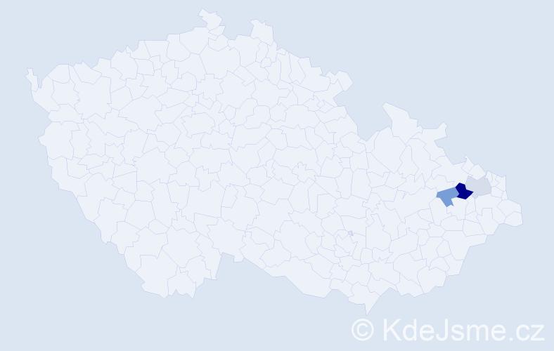 Příjmení: 'Gruchala', počet výskytů 8 v celé ČR