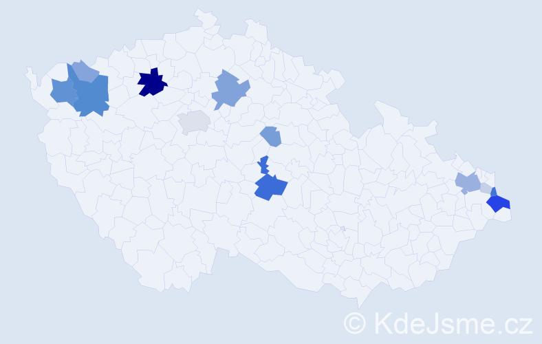 Příjmení: 'Gora', počet výskytů 41 v celé ČR
