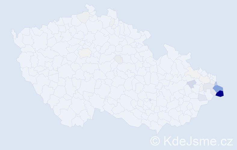 Příjmení: 'Kadlubiec', počet výskytů 120 v celé ČR