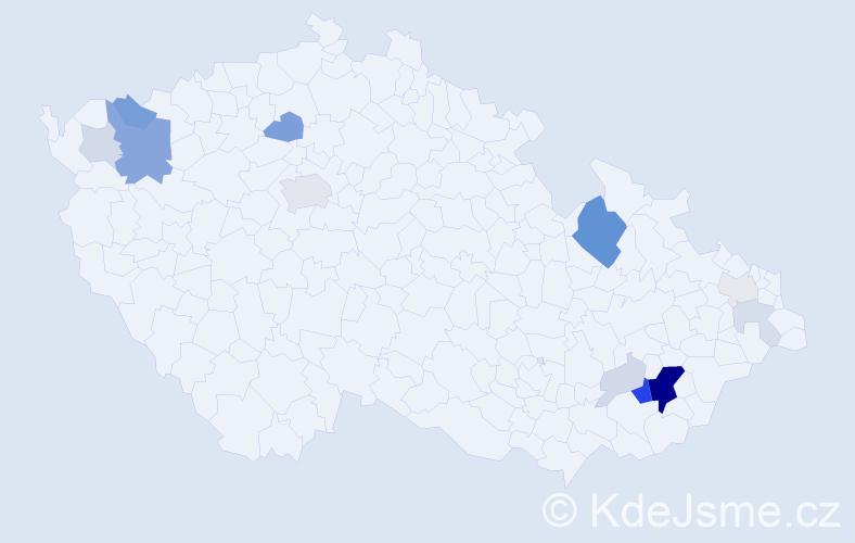 Příjmení: 'Landsfeldová', počet výskytů 45 v celé ČR