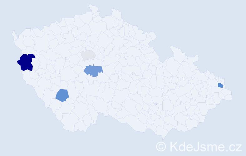 Příjmení: 'Hričko', počet výskytů 7 v celé ČR