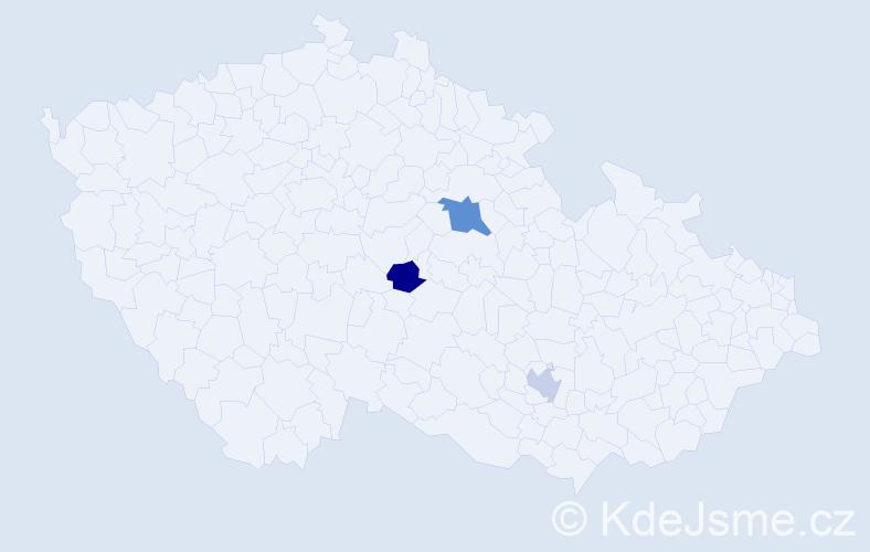 Příjmení: 'Bartanuszová', počet výskytů 4 v celé ČR