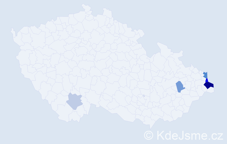 Příjmení: 'Faruga', počet výskytů 12 v celé ČR