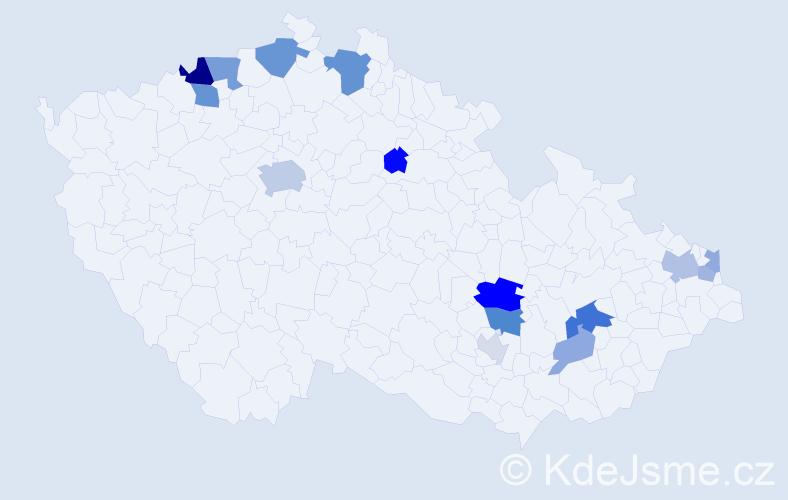 Příjmení: 'Brna', počet výskytů 32 v celé ČR
