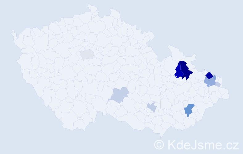 Příjmení: 'Imreová', počet výskytů 30 v celé ČR