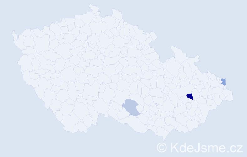 Příjmení: 'Fišbach', počet výskytů 5 v celé ČR