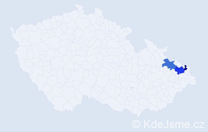 Příjmení: 'Hajtmaníková', počet výskytů 5 v celé ČR