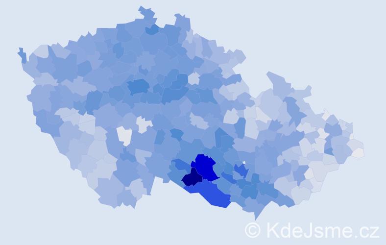 Příjmení: 'Svobodová', počet výskytů 26560 v celé ČR