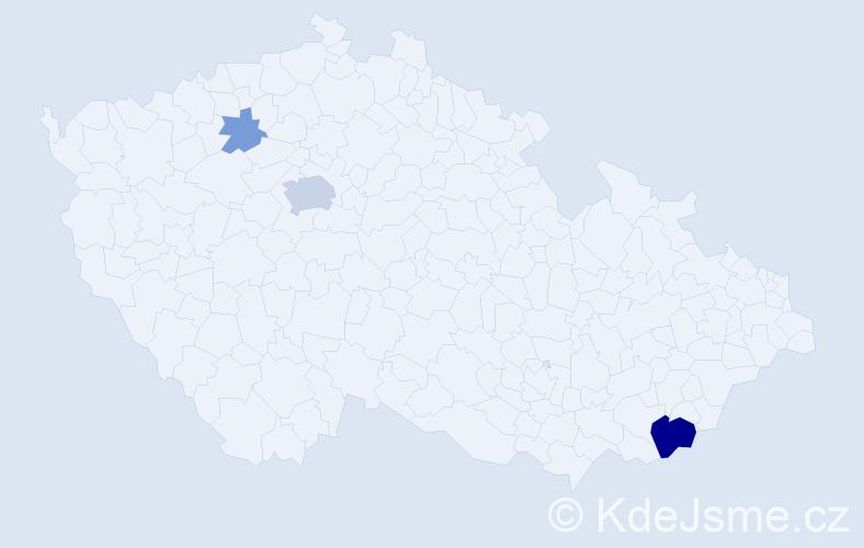 Příjmení: 'Ďubašík', počet výskytů 9 v celé ČR