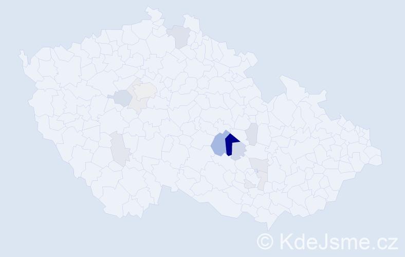 Příjmení: 'Kakač', počet výskytů 34 v celé ČR