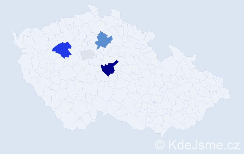 Příjmení: 'Izaj', počet výskytů 12 v celé ČR