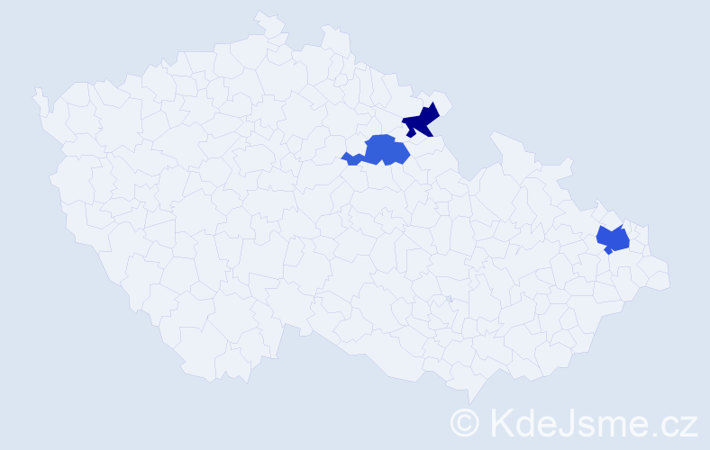 Příjmení: 'Černikovský', počet výskytů 4 v celé ČR