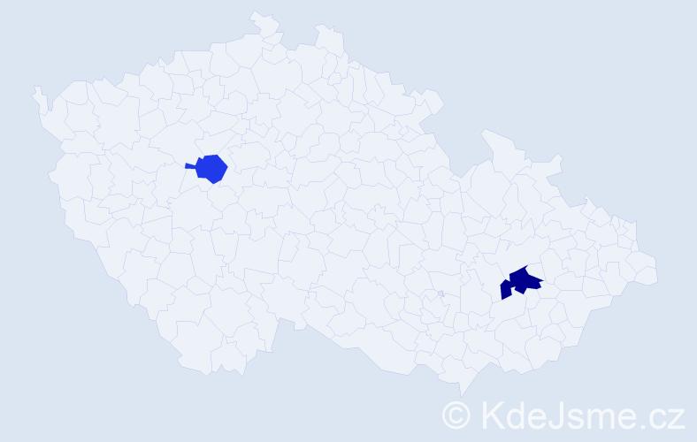 Příjmení: 'Garin', počet výskytů 6 v celé ČR