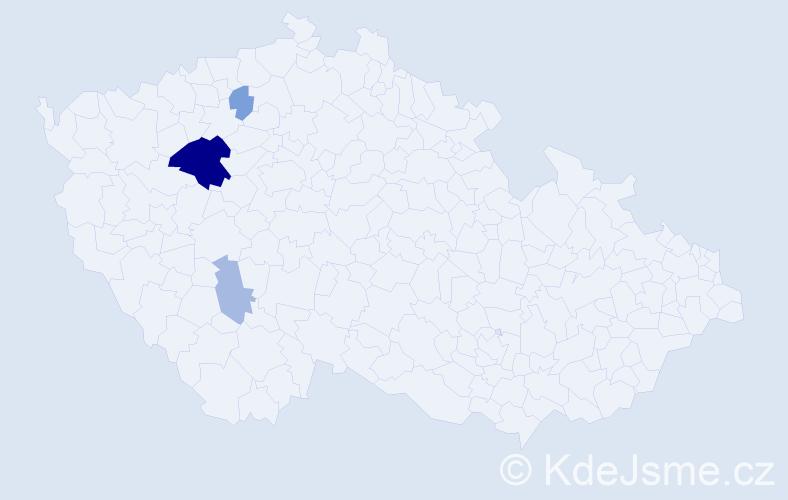 Příjmení: 'Aichlman', počet výskytů 9 v celé ČR