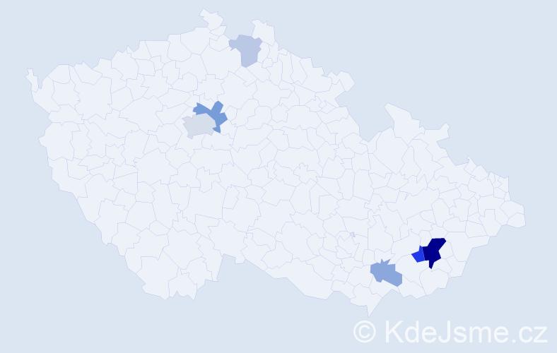Příjmení: 'Fimbingerová', počet výskytů 16 v celé ČR