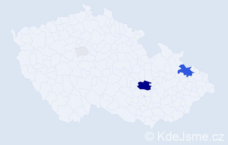 Příjmení: 'Kalik', počet výskytů 7 v celé ČR
